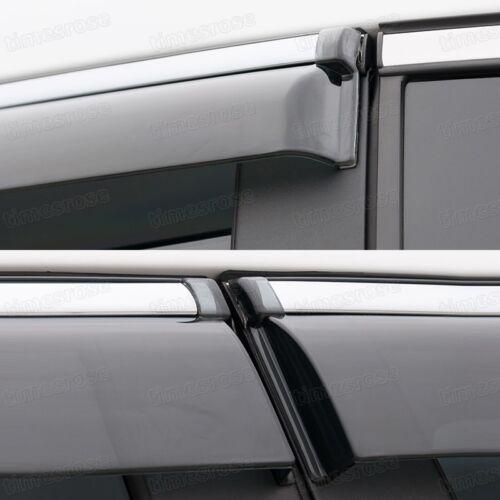 Front /& Rear Window Visor Deflector Vent Shade for Buick Verano 2012-2015 13 14
