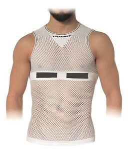 Closeout-LP1-Cycling-Sleeveless-BASE-LAYER-in-White-Made-in-Italy-by-Outwet