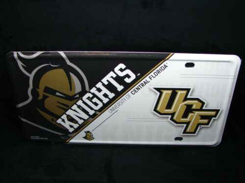 NCAA UNIVERSITY OF CENTRAL FLORIDA KNIGHTS METAL CAR LICENSE PLATE UCF KNIGHTS
