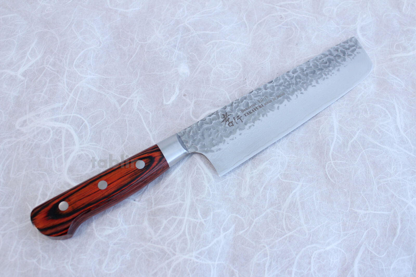 SAKAI TAKAYUKI hammerouge Damascus 33 layer VG-10 Japanese Nakiri knife 160mm