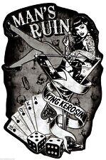 King Kerosin Hot Rod / Pin Up Aufkleber/Rockabilly/Oldschool/Retro/Hot Rod/Ratte