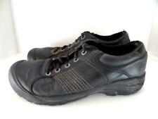 KEEN Men 7 Finlay Black Leather Lace up Comfort Walking Hiking Oxford Shoe