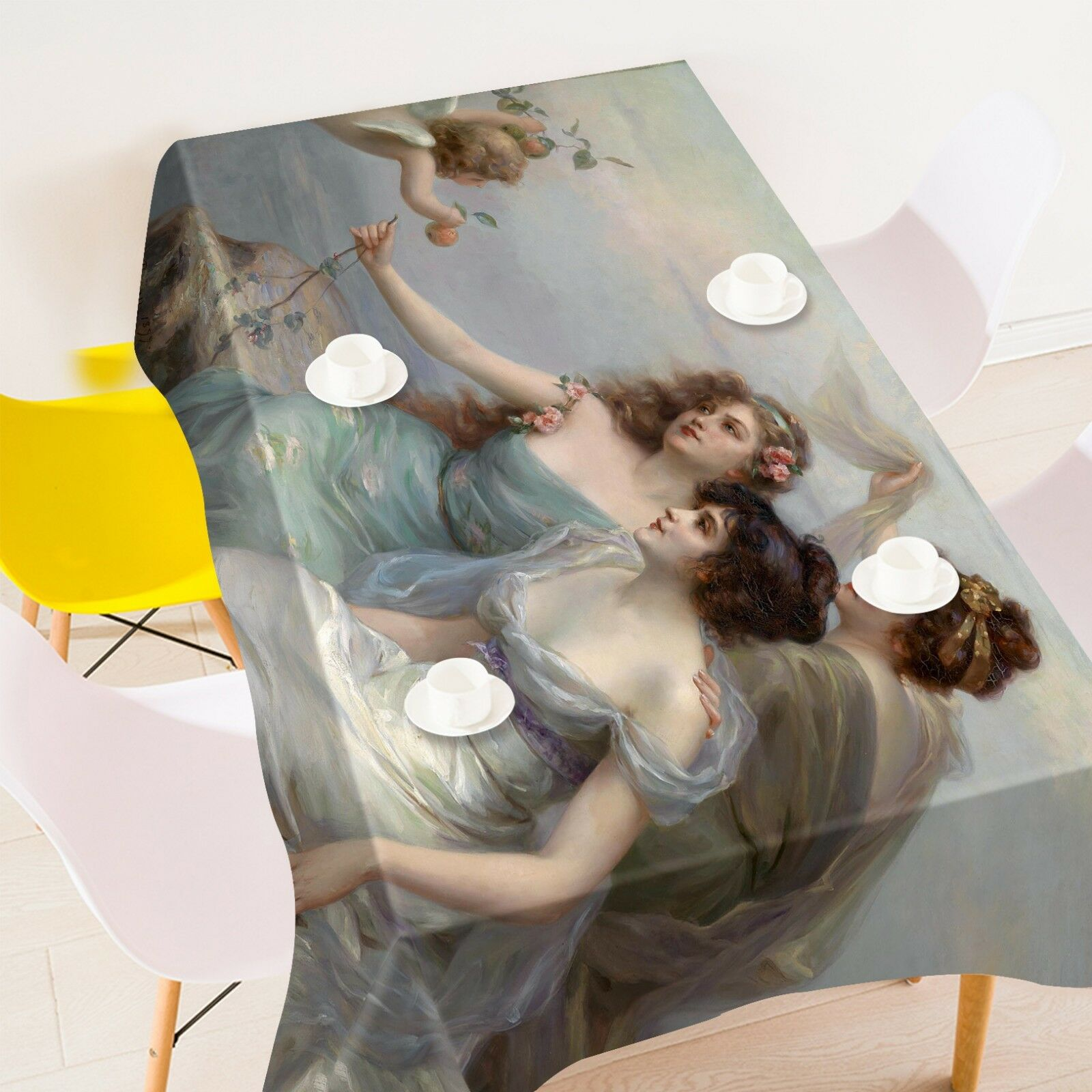 3D Girl Painted 0142 Tablecloth Table Cover Cloth Birthday Party Event AJ Summer