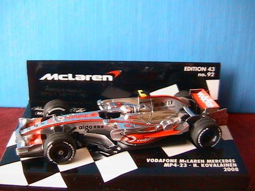 MERCEDES MCLAREN MP4-23  1 VODAFONE KOVALAINEN 2008 1 43 MINICHAMPS 530084323