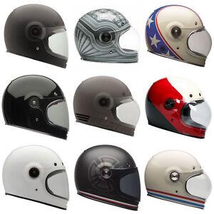 Image Is Loading Bell Bullitt Moto Motorcycle Classic Full Face Helmets
