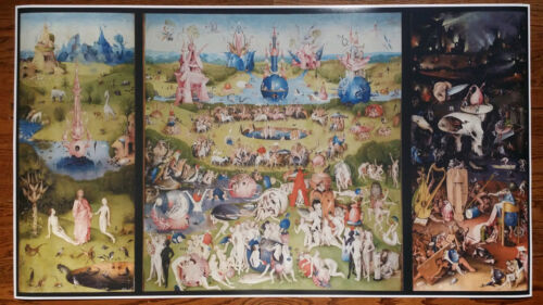 "Garden of Earthly Delights GIANT WIDE 24/"" x 46/"" Hhieronymus Bosch Poster Art"