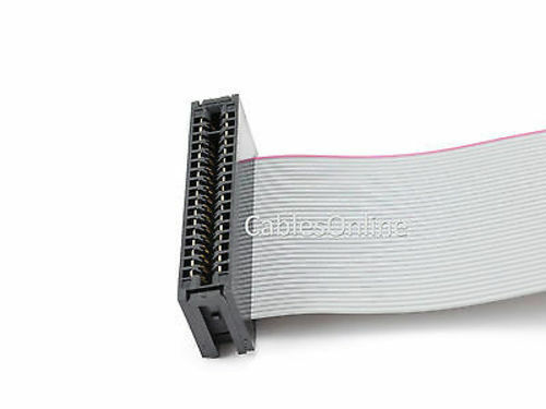"""CablesOnline FF-018 18 inch 34-Pin Card Edge IDC 5.25/"""" Drive Cable"""