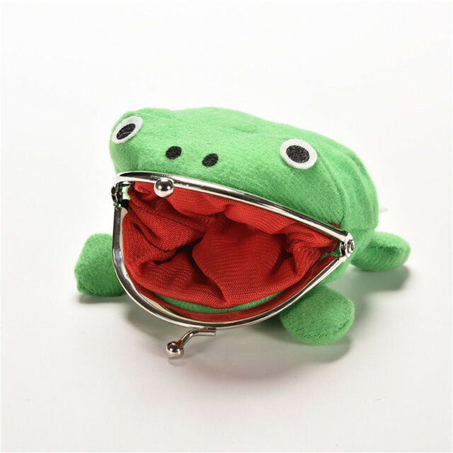 Naruto Frog Fluff Coin Purse Wallet New Cartoon Green Cute Gifts HH