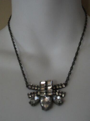 Banana Republic Deco Crystal Pendant STATEMENT Necklace NWT $38