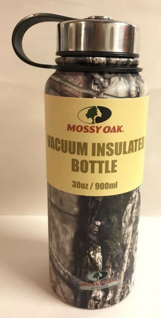 Haas Outdoor Mossy Oak Insulated Vacuum Bottle 30oz Thermos Coffee Water Flask