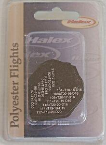HALEX-QUALITY-POLYESTER-DART-FLIGHTS-SET-of-THREE-BLACK-w-WHITE-TEXT-ALGEBRA