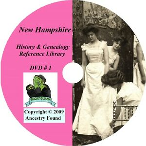 165 old books NEW HAMPSHIRE history & genealogy NH
