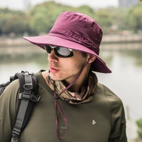 Fashion Unisex Bucket Hat Boonie Hunting Fishing Outdoor Cap Wide Brim Sun Hats
