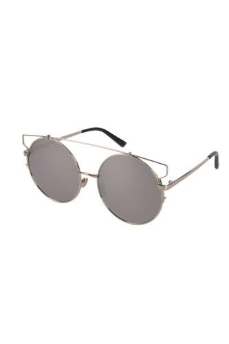 New Round Sunglasses Flash Len /& Metal Cut Out Ladies Mens Womens Reflective Lot