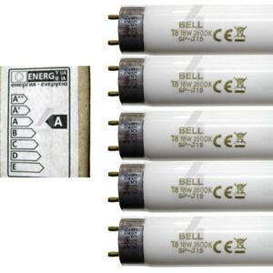 18w T8 Fluorescent Tube 600mm 2ft White Lamp for Batten Ceiling Lights BELL
