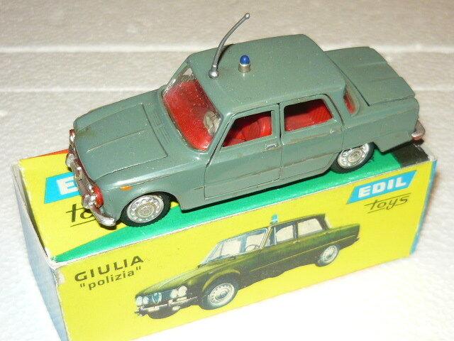 Ediltoys Alfa Romeo Giulia Police Scale RC Car Dovetailed Toys 1 43