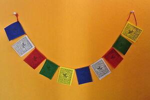Buddhist Prayer Flags BANDERAS DE ORACION TIBETANAS PEQUEÑA NEPAL Lung-ta