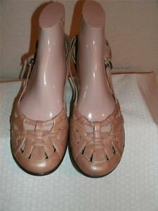 Sofft-Metallic-Gold-Leather-Strappy-Shoes-Shoe-Size-9-N