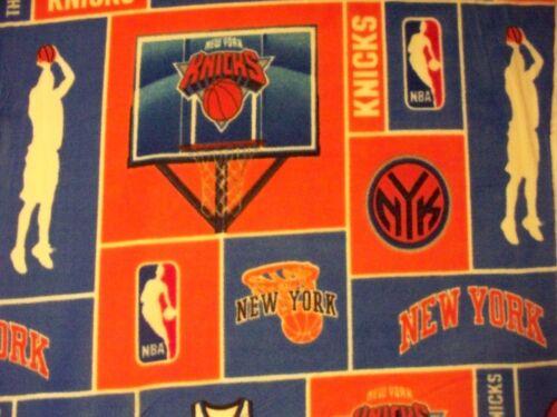 Knicks New York NBA Basketball Licensed Fleece Fabric OOP