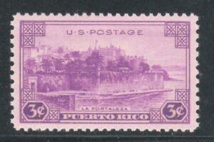 Stati-Uniti-Francobollo-801-3c-Puerto-Rico-Magnifico-come-Nuovo-Graduate-98
