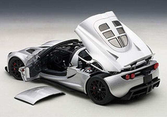 Autoart Hennessey Venom Gt Spyder Argent 1/18 Échelle Nouvelle Version !