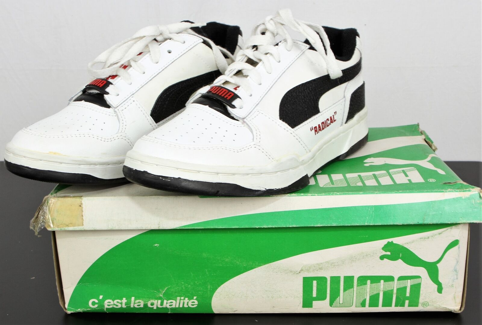 2d3879f2b92a Deadstock 80s 90s PUMA  radical  Trainers White UK 6 for sale online ...