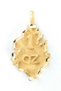 Nugget-Pendant-Charm-1-OZ-Gold-Plated-Metal-For-Necklace-Chain-Christmas-Gifts