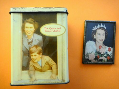 Vintage Hand Held Pocket Mirror and Money Box Queen Elizabeth II Coronation
