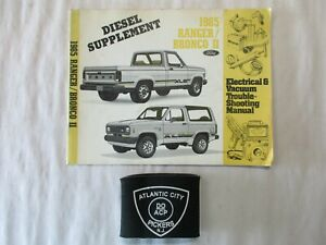 1985 Ford Ranger Bronco Ii Electrical Wiring Diagrams Diesel Supplement Manual Ebay