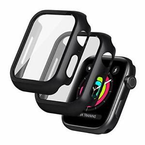 Lot de 2 Coque Apple Watch Serie 6/Se Série 5/4 44mm Verre Trempé Anti-Rayures