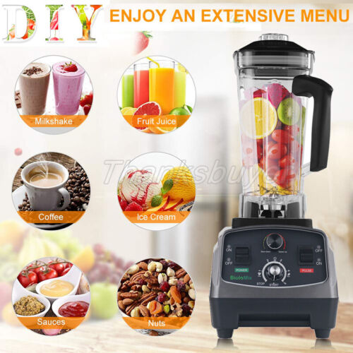 T5200 2L Heavy Duty Commercial Blender with Timer 2200W Fruit Variable Speeds#Z