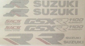 SUZUKI GSXR1100 GSXR1100K RESTORATION DECAL SET 1989