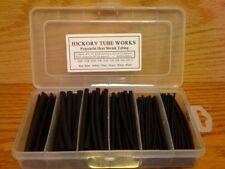 160 Pcs Pro Kit 4 Black Polyolefin 21 Halogen Free Heat Shrink Tubing 6 Sizes