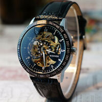 Herrenuhr Hollow Skeleton Armbanduhr Uhr Automatic Mechanisch Edelstahl Watch