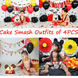 Baby Boys Cake Smash Outfits Wild One Crown for 1st 2nd Birthday Party 4PCS Shorts Bowtie Suspenders Headbands Clothes