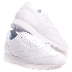 a65b8b692046f Reebok Women s Classic Leather Running Shoe in White in Sizes 5 to ...