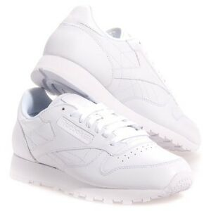 86eb76ca35b0 Reebok Women s Classic Leather Running Shoe in White in Sizes 5 to ...