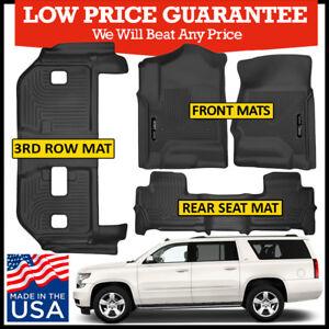 Awe Inspiring Details About Husky Liners X Act Contour Floor Mats Bundle Black 2015 2019 Chevrolet Suburban Dailytribune Chair Design For Home Dailytribuneorg