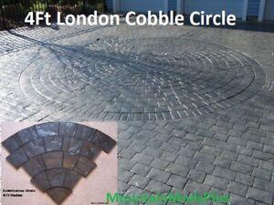 London-Cobble-4ft-Circle-Stone-Texture-Decorative-Concrete-Cement-Stamp-Mat-New
