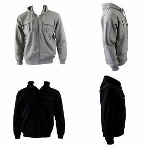 Men-039-s-Hoodie-Hooded-Top-Zip-Up-Jumper-w-Fleece-Casual-Sports