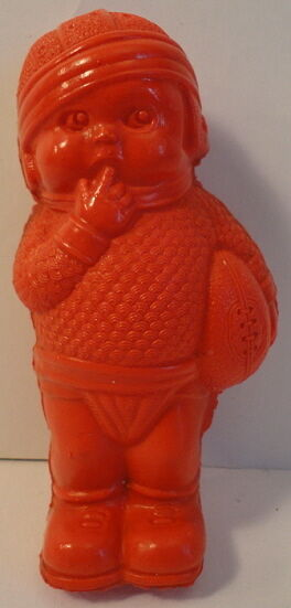Irwin 1940's Company Salesroom Sample Celluloid Red Football Baby Boy Player