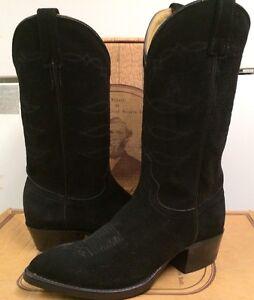 mens black suede cowboy boots ebay Shop