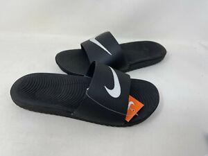 NEW-Nike-Men-039-s-Kawa-Slides-Slip-On-Comfort-Blk-Wht-832646-010-Size-7-203G-z