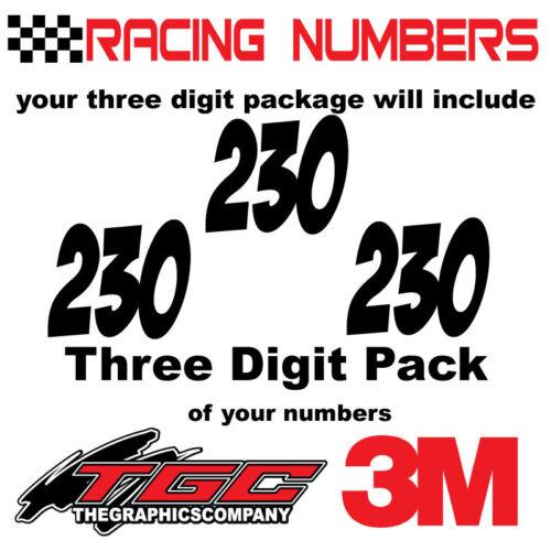 Racing Numbers Vinyl Decals Stickers boat car BMX bike off road sprint quad BADA
