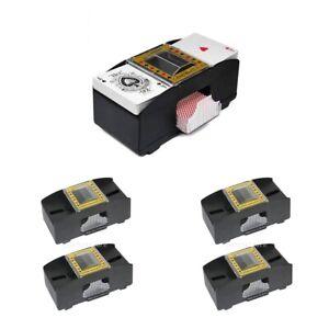 4x-Automatischer-Kartenmischgeraet-Kartenmischmaschine-Poker-2-Decks
