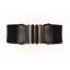 thumbnail 5 - Women Wide Elastic Stretch Waist Belt Gold Bucket Black Belt Wide Waist Belt