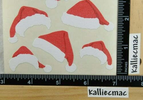 Mrs Grossman FABRIC SANTA HATS Stickers VINTAGE CHRISTMAS
