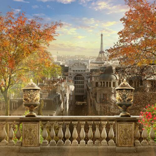 Kleistertapete oder Selbstklebende Fototapete Paris Eiffelturm Montmatre