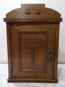 Antiguo-Art-Deco-Armario-Gabinete-de-Pared-Vintage-Um-1920