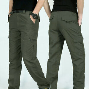 Men-Outdoor-Hiking-Multi-pockets-Solid-Quick-Dry-Tactical-Pants-Clothes-HOT-Cal